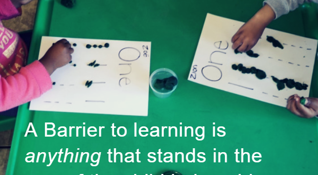 Barriers to Learning Are Not Limited to Disability