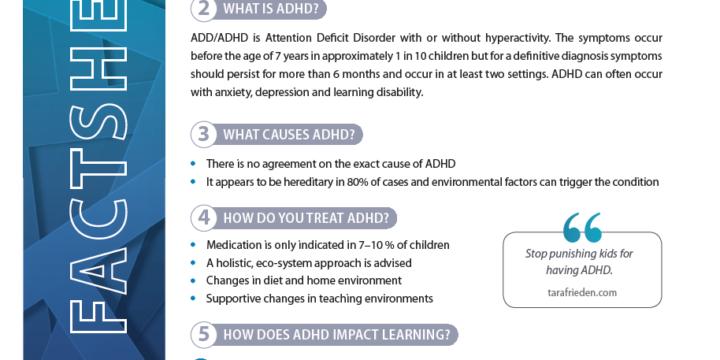 INCLUDING A LEARNER WITH ATTENTION DEFICIT HYPERACTIVITY DISORDER (ADHD)
