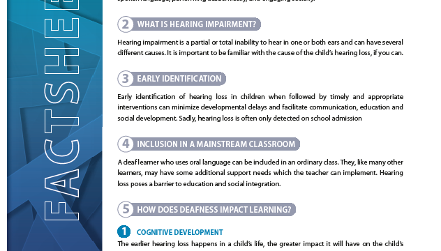Including Learners With Hearing Impairments in a mainstream setting