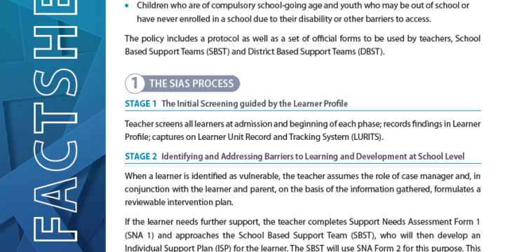 UNDERSTANDING SIAS – The Screening, Identification, Assessment and Support Policy